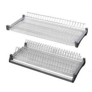 2 tiers kitchen iron dish drying rack iron chrome plate