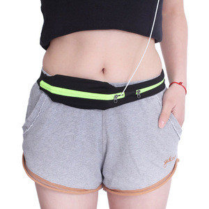 2019 Very cheap outdoor running cycling pocket unisex sport elastic fanny pack waist belt bag