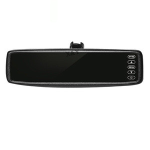 4.3 inch car monitor Reversing rearview mirror display universal snap-on clear invisible monitor XY - 2043