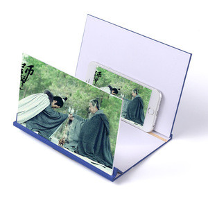 8 Inch Wooden High Definition Acrylic Lens 3D Creative Mobile Phone Stand Screen Amplifier