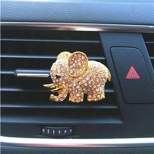 Auto Decoration Air Freshener Diamond Crystal Fragrance Auto Accessories Air Outlet Clip Elephant Car Perfume
