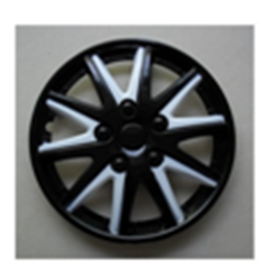 Car black white colored Wheel Covers Rim Cover 13 14 15 16 ABS PP auto plastic custom hubcaps