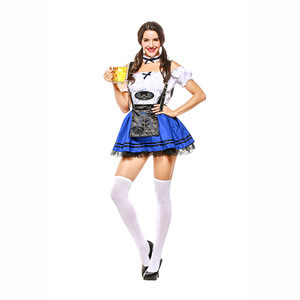 Cheap carnival party adult german sexy beer maid girl costume