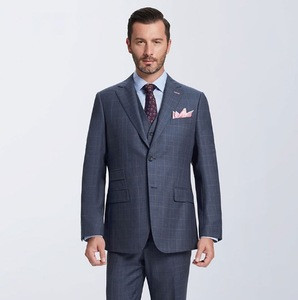 Dark grey trendy business custom tailor made to measure office 3 piece suit for men