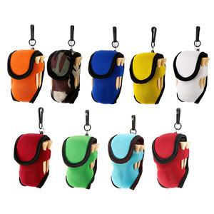 Elastic Golf Tees Holder Bag Carry Pouch Belt Clip Neoprene Mini Golf Ball Holder Bag
