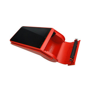 Factory Android Pos Terminal Handheld Card Swipe Machine With 58mm Printer