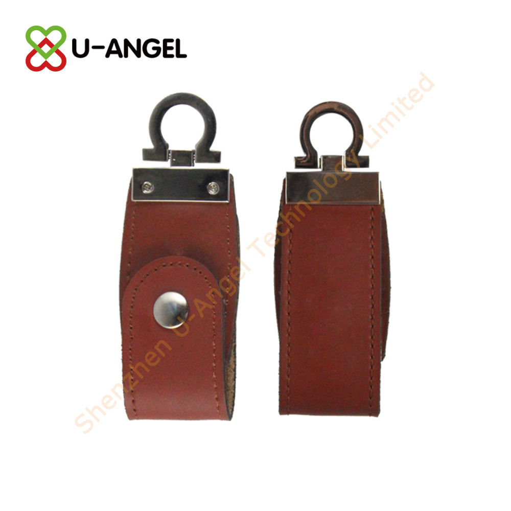 Factory selling 8GB Mini leather case usb flash drive,key ring usb thumb drive