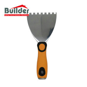 Good Quality Stainless Steel Notched Putty Knife Scraper