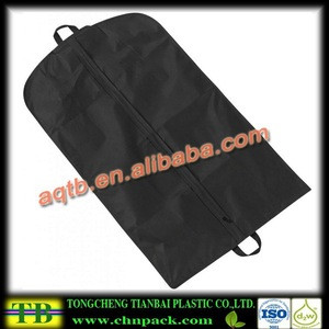 Green color non woven garment bags with printing
