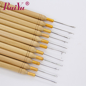 Hair extension tools knitting/crochet needle set /micro ring beads pulling needle