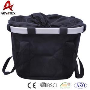 Hot Sales 100% Polyester Multi Purpose Black Bicycle Basket