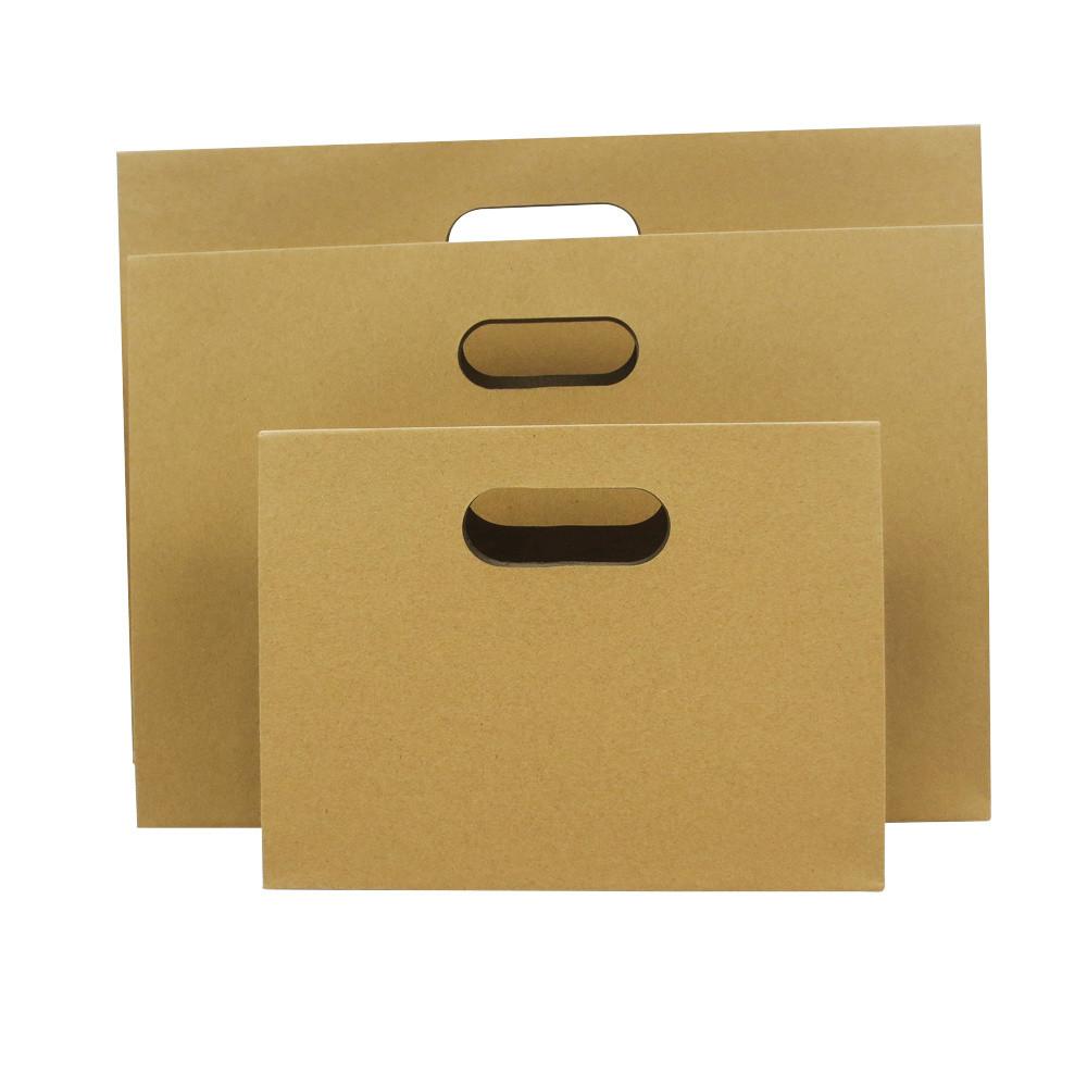 Machine Made Die Cut Handle Brown Paper Shopping Gift Bags