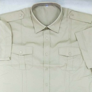 Mens Security Guard Dress Uniform/Cheap SecurityShirt With Short sleeve
