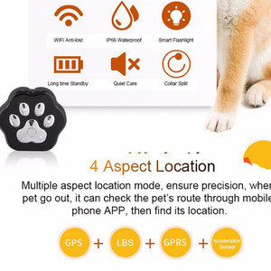 Mini smart gps pet tracker with 3G GSM location navigation tracking