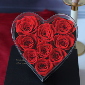 New Arrival Preserved Flowers Present Real Roses Carnations for 2020 Valentine's Day
