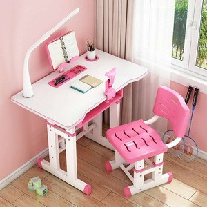 New design height adjustable study table and chair for kids students home furniture