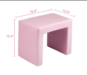 Pink Kids Sofa Couch Children Living Room Furniture Armrest Chair Soft Flannel w/Pillow
