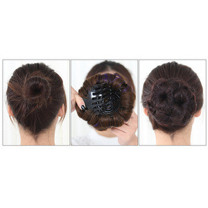 Ponytail Hairpiece Heat Resistant Extension Styling Tools Curly Hair Bride Makeup Bun Flowers Chignon Claw on 6 Colors