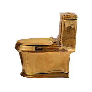 Sanitary ware golden color gold wc toilet bowl elongated one-piece toilet