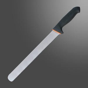 Saw edge knife fish filleting fillet knife lines ham or meat or bacon or kebab slicing knife lines