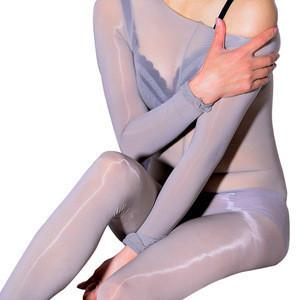 Skin tone bodystocking chinese red stocking long sleeve full body stocking