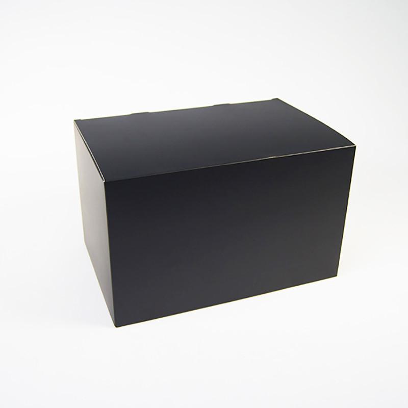 Wholesale Black Art Paper Box Square Shape Custom Logo Hot Stamping Logo Hat Packaging Box