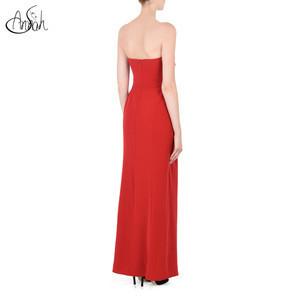 Wholesale latest design modern chiffon red formal bridesmaid dress