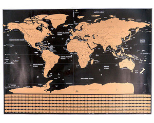 ZORAS 2018 NEW ARRIVAL DESIGN MOQ 1PC STOCK Scratched Map For The World with Drop Shipping Available