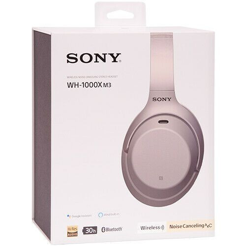 Sony WH-1000XM3 Wireless Noise-Canceling Over-Ear Headphones Silver
