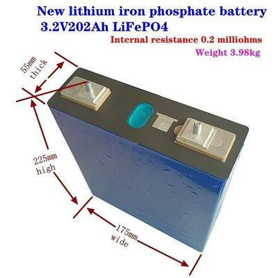3.2V lithium battery 200Ah lithium battery Rechargeable lithium battery 202AH cell