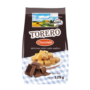 125 gr chocolate flavor mini wafers biscuits