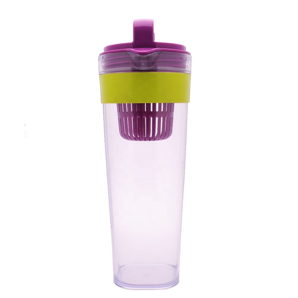 1400ml  Tritan shaker Fruit Infuser pitcher water filter for tour