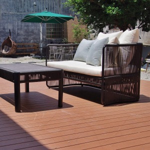 2020 new design hotel garden outdoor black round rattan double sofa