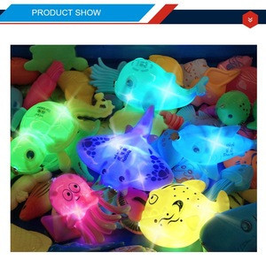 30  pcs flashlight fish electric interaction toy fishing game for kids
