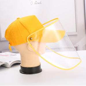 anti-flu anti-saliva protective Isolation baseball cap with removable face shield