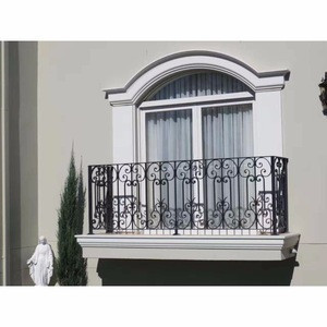Beautiful American house safety modern iron window grill design balcony door