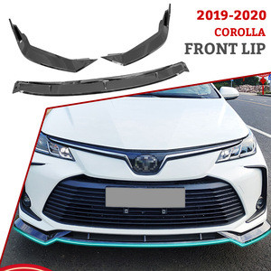 Car Front Bumper Lip Body Kits pp material carbon fiber Front protection for corolla2020
