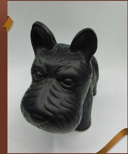 Ceramic piggy ceramic piggy bank dog money box with black hat