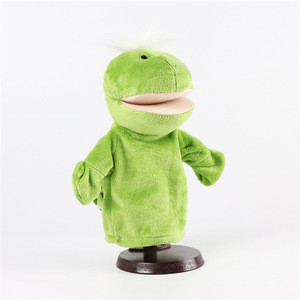 China factory provide frog stuffed plush animals toy hand puppet