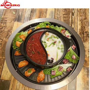 Commercial Korean Bbq Restaurant Indoor On Hibachi Table Top Electric Grill