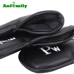 Custom Golf 12pcs Thick Synthetic Leather Golf Iron Head Covers Set Headcover Fit All Brands