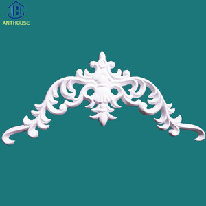 Custom High quality Cheap price Wall Appliques and Onlays Polyurethane Interior Decor Veneer Accessories PU flower Ornaments