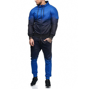 Custom Mens Tracksuit Training & Jogging two-piece Suit Outdoor Running Wear Top+Leggings Wholesale Sportswear KITSM02