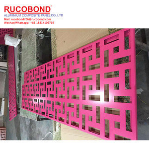 Custom outdoor advertising signs carved Perforated aluminium sheet curtain wall aluminum panels pierced engraved aluminum veneer