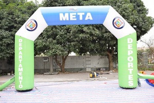 Customized start n finish line, inflatable arch for advertising,soap finishing line