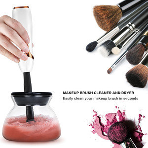Electric Makeup Brush Cleaner & Dryer Machine Set Make Up Brushes Automatic Rotation Washing Cleaning Tool Brush Accessories