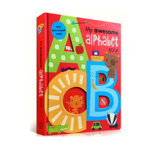 Factory welcome custom printing number and alphabet education kids cardboard book