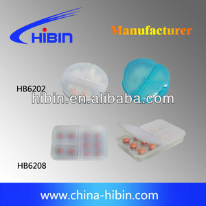 (HB 6202)3 day weekly plastic pill boxes
