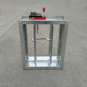 Hvac ceiling temperature control motorized air damper