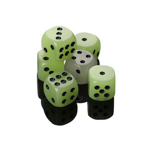 Luminous Dice 6-sided 16mm Noctilucent Dice for boardgame and night Bar KTV and other games accessories